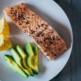 Simple Steamed Salmon.