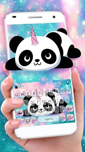 Kawaii Unicorn Panda Keyboard Theme 1.0 screenshots 1