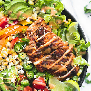 Fiesta Lime Chicken Salad with Chipotle Dressing