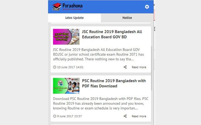 Porashuna - Education Update