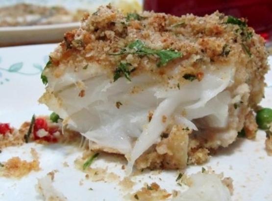 Garlic Crusted Cod Recipe