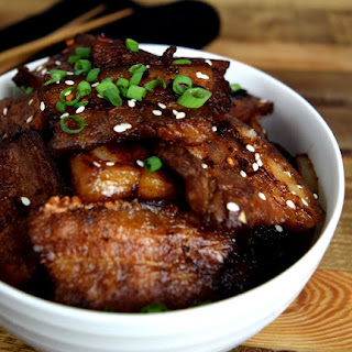Asian Inspired Chili-Spiced Pork Belly.