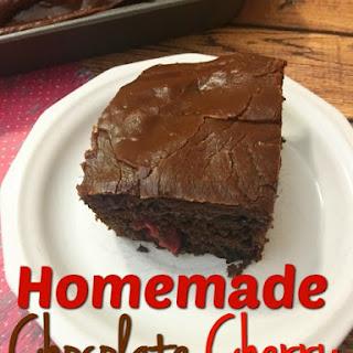 Homemade Chocolate Cherry Brownies.