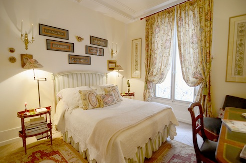 luxury bedroom at passy serviced apartment