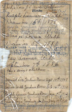 Photo: Back of Webb Family Register continued, (Births)
