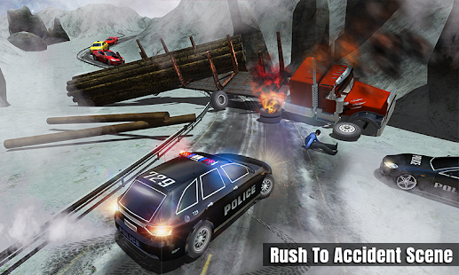 Ambulance Police Car Drift Rescue Driving Fun Game - náhled