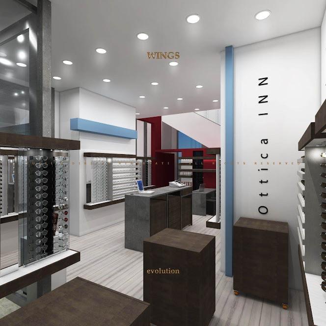thiết kế nội thất cửa hàng kính mắt thời trang