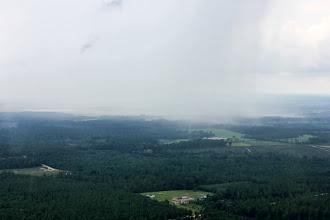 Photo: Off toward Pelion is rain.