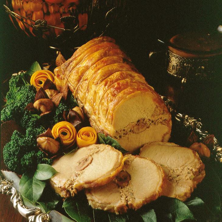 Chestnut-Stuffed Pork Roast Recipe