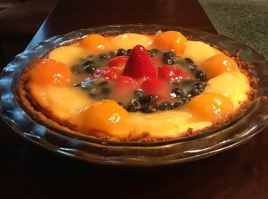 Cheesecake With Glazed Fruit Recipe | Just A Pinch Recipes
