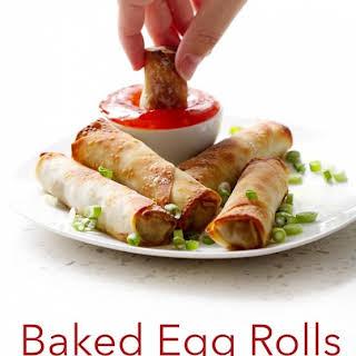 Baked Egg Rolls.