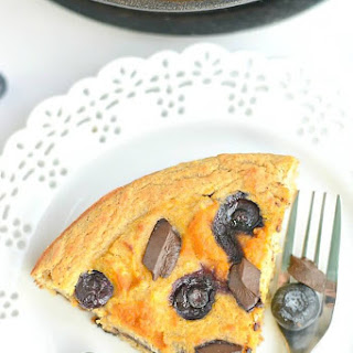 Pumpkin Blueberry Chocolate Skillet Cake {GF, Paleo}.
