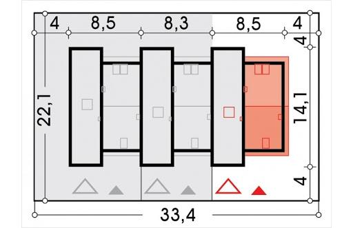 Adam segment skrajny prawy - Sytuacja