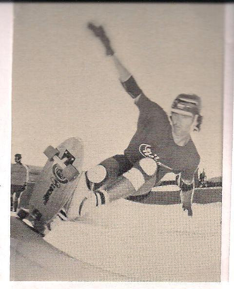 Photo: Denis making a hard turn at Carlsbad Skate Park
