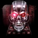 Neon Blood Skull 3D Theme icon