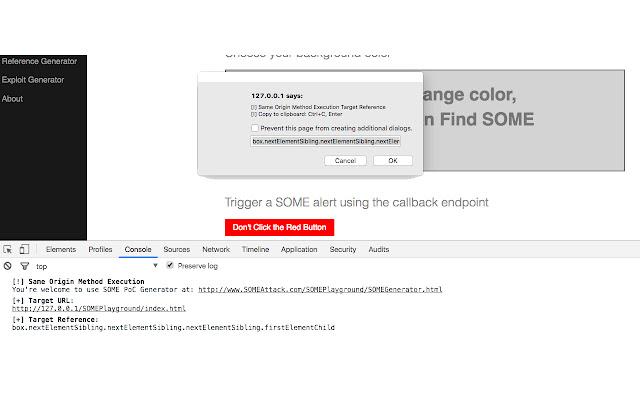 Same Origin Method Execution - Targeting Tool