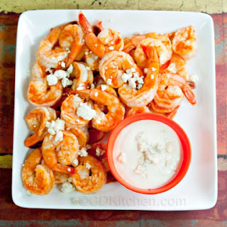 Buffalo Shrimp With Blue Cheese Dip