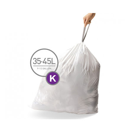 Avfallspåsar till Simplehuman 3 x pack med 20 påsar(60-påsar)  TYP K