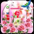 Pink Rose Flower Love Launcher APK