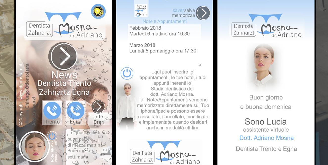 App Mobile studio dentistico Trento
