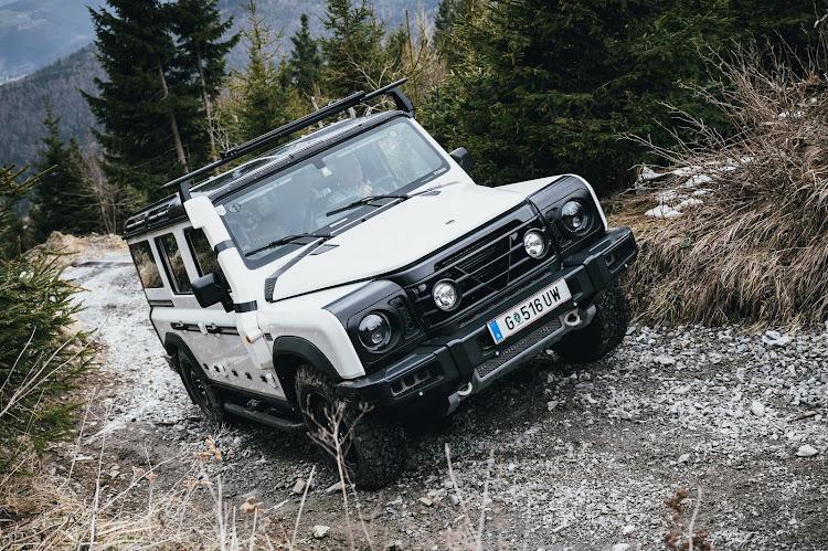 ineos grenadier正在奥地利Schöckl山的崎岖小径上进行测试。图片:提供