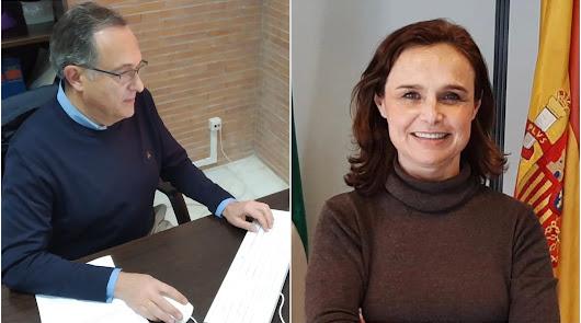 Vicente García y Raquel Espín, nuevos delegados de la Junta en Almería