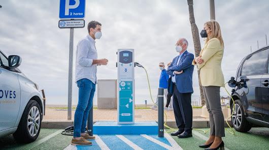 Estos son los puntos donde podrás recargar tu coche eléctrico en Roquetas de Mar