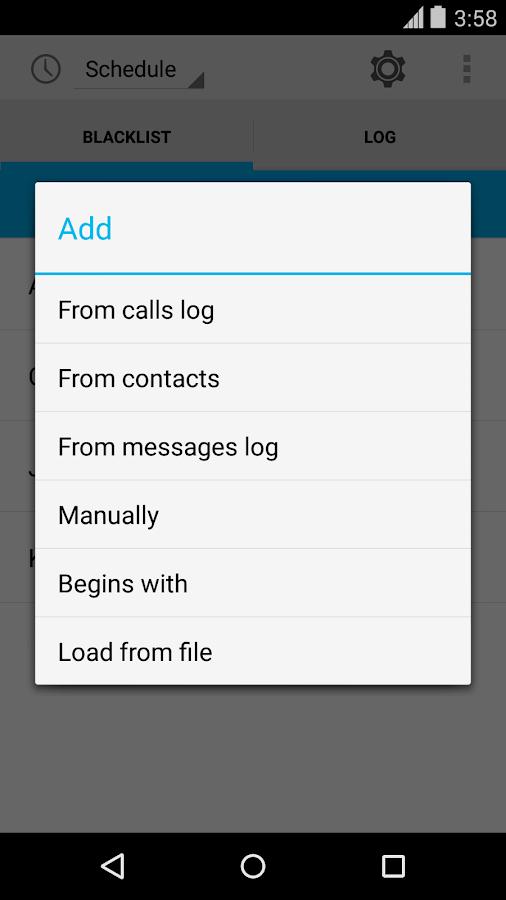 Calls Blacklist PRO- screenshot