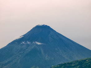 Photo: Tungurahua active volcano which oversees Banos town