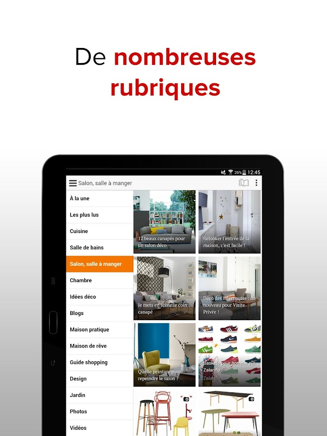 C t maison d co design applications android sur for Application construction maison android