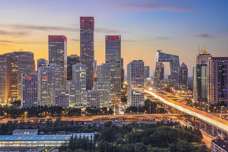 The skyline at Bejing's central business district in China. Picture: 123RF/SEAN PAVONE