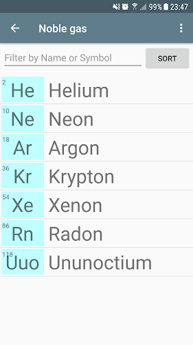 Periodic table of elements on google play reviews stats periodic table of elements android app screenshot urtaz Gallery