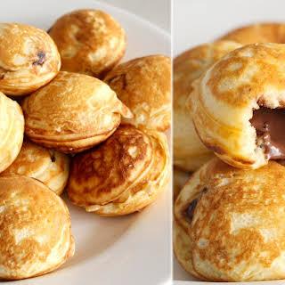 Nutella-Stuffed Mini Pancakes.