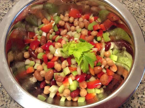 Vegetables Are Onion, Red Pepper, Celery, Green Onion.