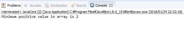 Java - tìm giá trị dương nhỏ nhất trong mảng số nguyên