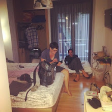 Photo: Relaxing in our tiny space. It was sufficient. Didn't realize how HUGE our apartment is :)