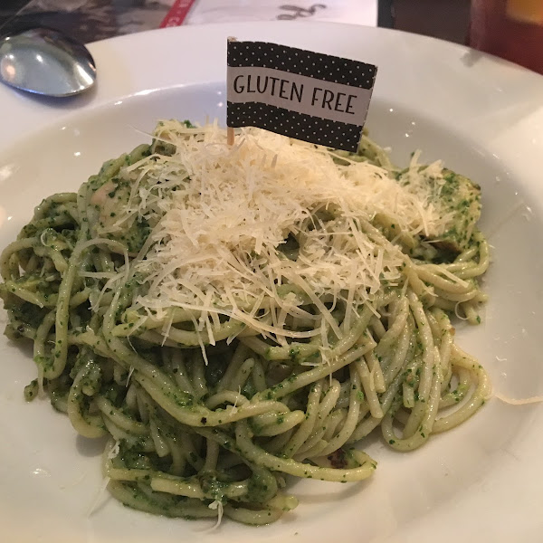 Pesto spaghetti with chicken