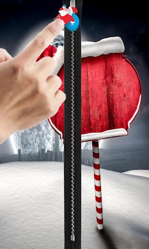 christmas zipper locke screen
