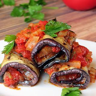 Vegetable Stuffed Eggplant Rollatini