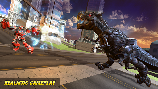Robot Dinosaur Future Transform City Wars game (apk) free download for Android/PC/Windows screenshot