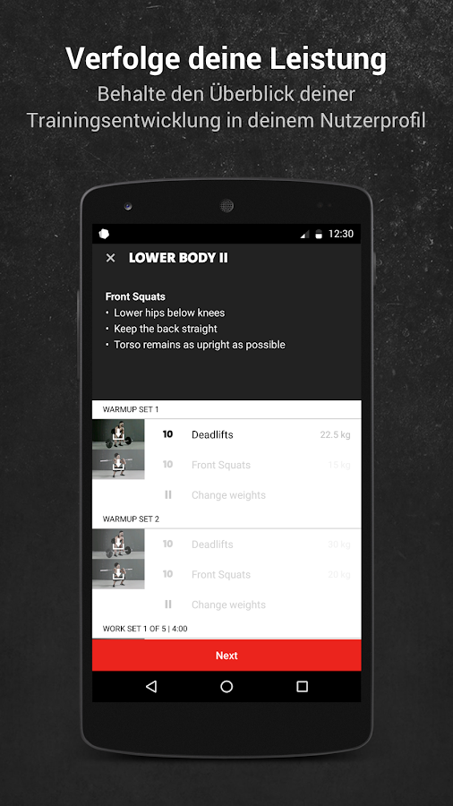 Freeletics Gym – Screenshot