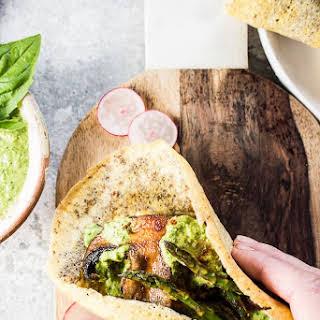 Healthy Smoky Mushroom Breakfast Tacos.