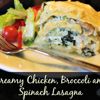 Spinach Lasagna Recipe with Chicken and Broccoli