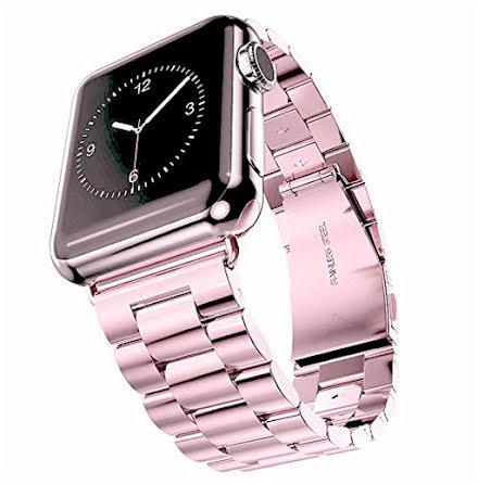 Apple Watch 42mm (3/2/1) - Elegant Länk i Rostfritt Stål (Flera Färger)