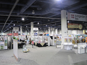 Photo: Pure Puer Tea/ Piao I USA exhibited in booth 436. In this photo you can see the 400 aisle.