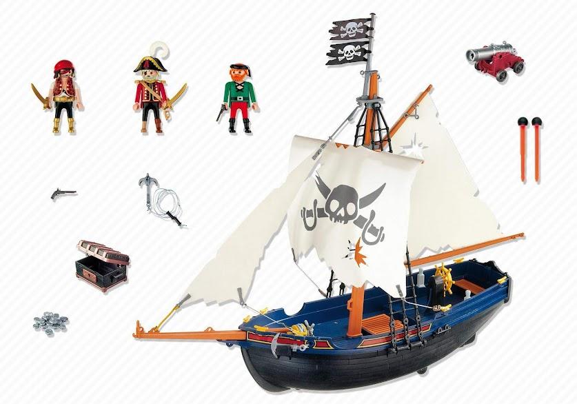 Contenido Real de Playmobil® 5810 Barco Corsario