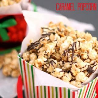 Christmas Caramel Popcorn