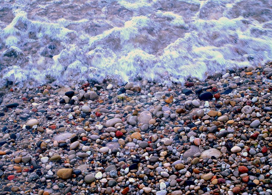 Splashing Rocks by Theodore Schlosser - Nature Up Close Rock & Stone ( rocks, splashing, beach, stones, water, wave,  )