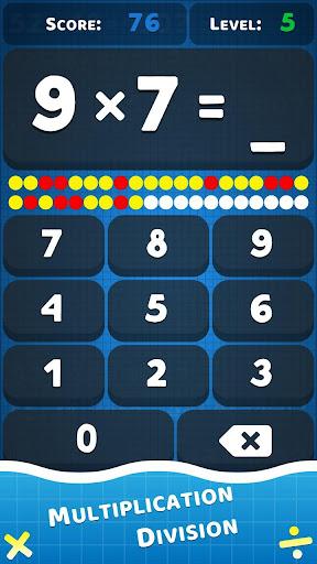 Math games: learn multiplication & division apkmartins screenshots 1