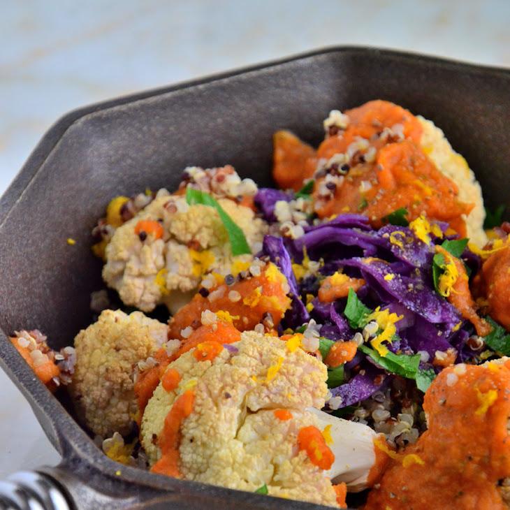 Perfectly Roasted Cauliflower with 'Creamy' Tomato Tahini Sauce {Gluten-Free, Dairy-Free, Soy-Free, Vegan} Recipe